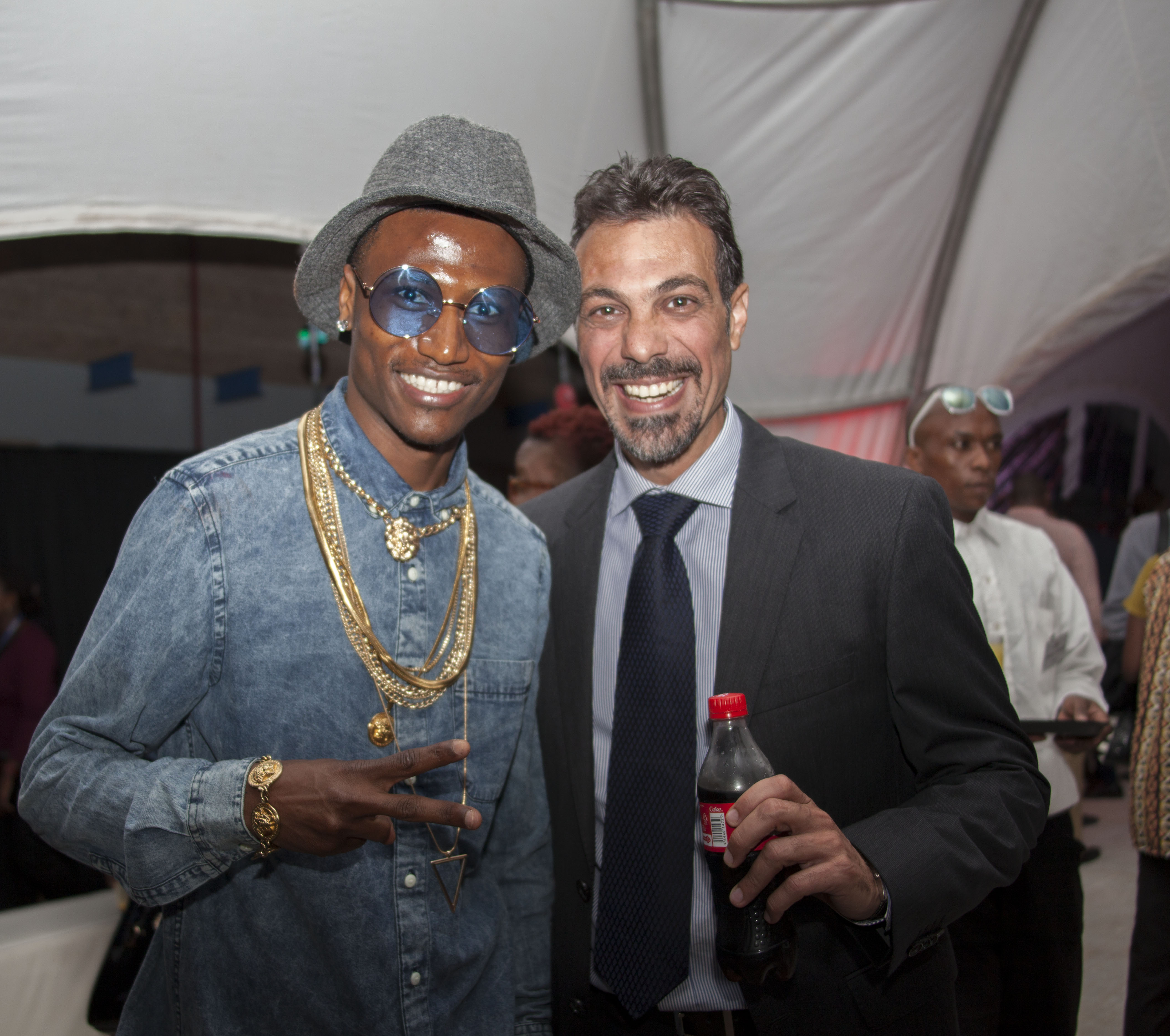 Octopizzo with Coca-Cola CEWA Marketing Director, Ahmed Rady
