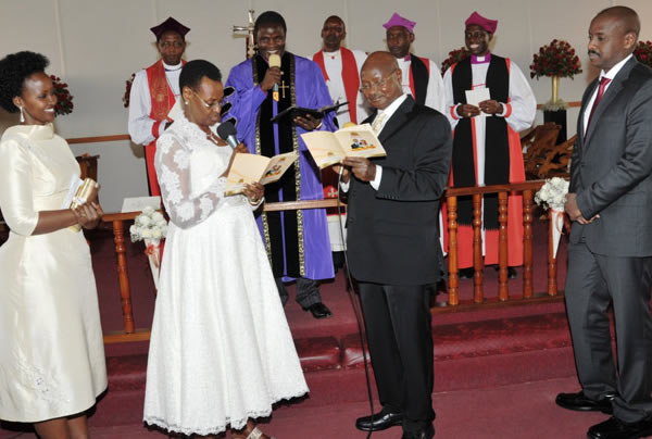 Museveni and his wife Janet