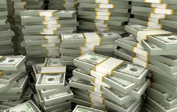 Piles of dollars cash dollar 350x222 - What is money! Inside the flashy lifestyle of worlds's richest parents