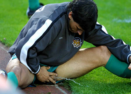 ball 2 - Most embarrassing things footballers have done on the pitch