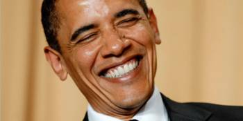 obama laughing edited 350x175 - Pig Fat Chases Away Demons: 35 Of The Craziest Myths Kenyans Believe In