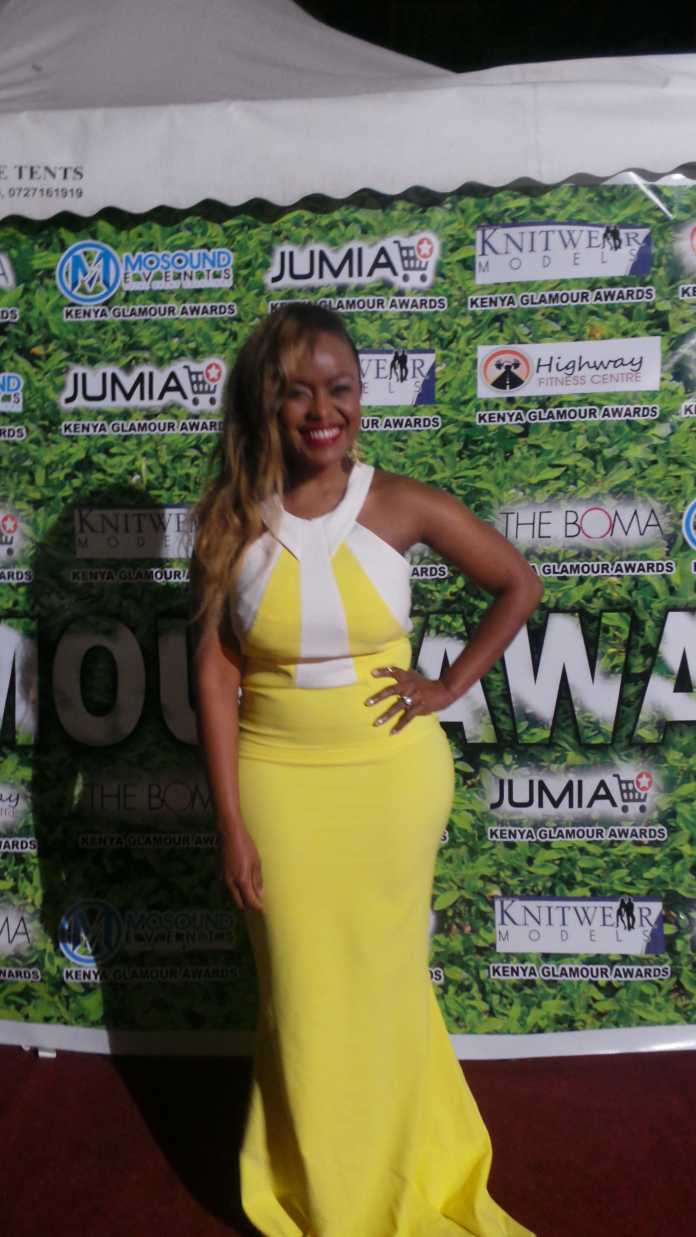 Singer Avril Kenya at the Jumia Glamour Awards