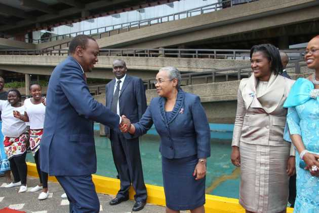 Margaret Kenyatta KICC 630x420 - Beauty and brains! Meet the beautiful and supportive women behind Kenyan politicians