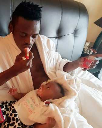 Diamond Tifah 12323 336x420 - Rare Moments Of East Africa's Best Celebrity Dads With Their Babies