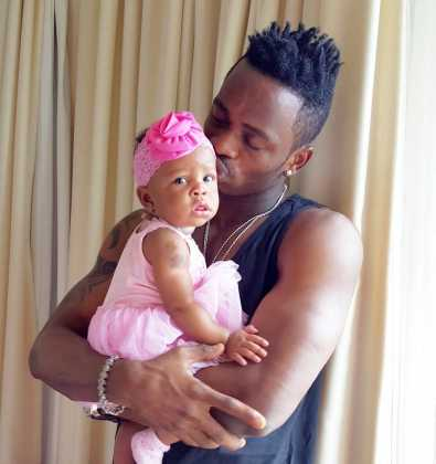 Diamond Tifah 12323d 395x420 - Rare Moments Of East Africa's Best Celebrity Dads With Their Babies